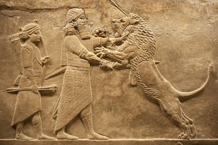 Kabartmalı Firavun Taşı Duvar Kağıtları | Tarihi Taş Duvar Kağıdı | İngiltere