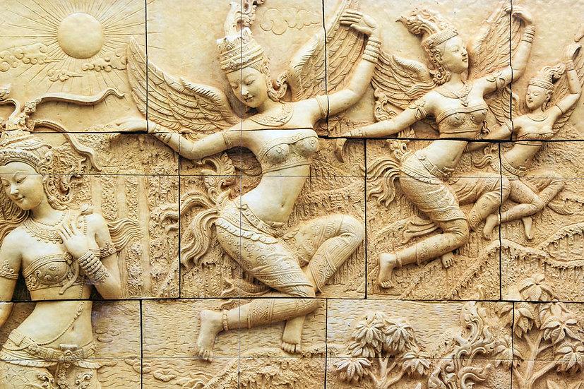 Kabartmalı Heykel Traş Duvar Kağıtları | Tarihi Kadın Duvar Kağıdı | İngiltere