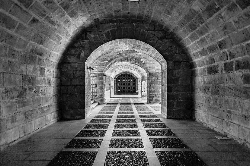 Siyah Beyaz Tünel Duvar Kağıtları | Hapishane Tüneli Duvar Kağıdı | İngiltere