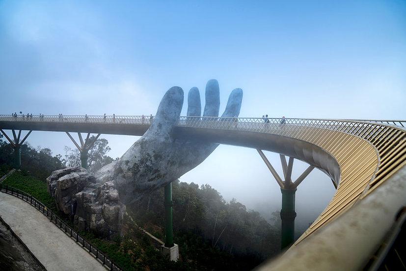 3 Boyutlu El Köprü Duvar Kağıtları | Mimari Köprü Duvar Kağıtları | Şensi