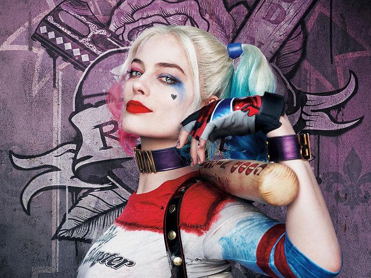 Harley Quinn Duvar Kaplamaları | 3 Boyutlu Gerçek Kötüler Duvar Kağıtları