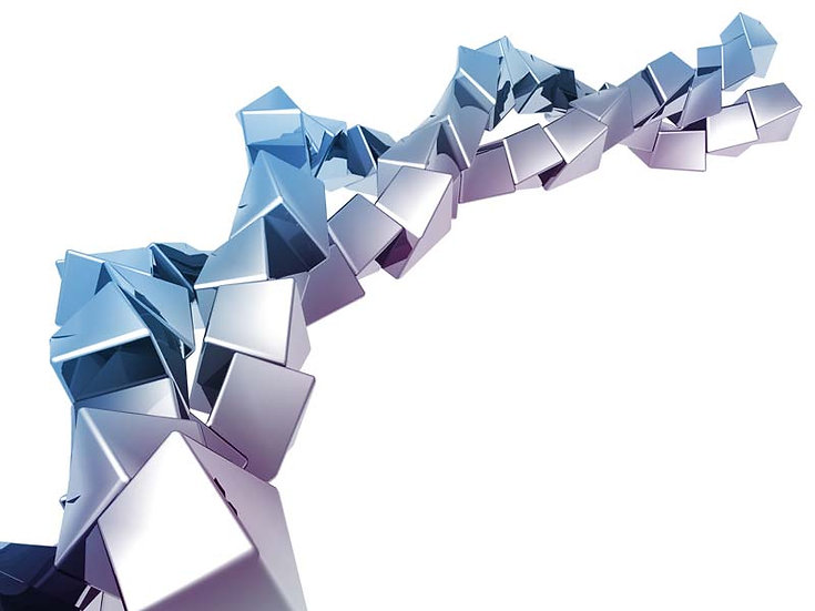 Gümüş Küp Tasarım Duvar Kağıtları | Üç Boyutlu Ofis Duvar Kağıtları | İstanbul