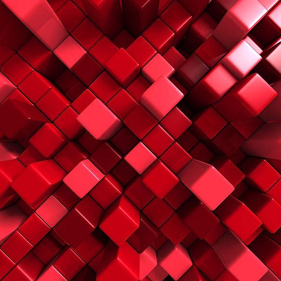 3 Boyutlu Kırmızı Küp Duvar Kağıtları | Balıkesir Duvar Kağıdı Çeşitleri