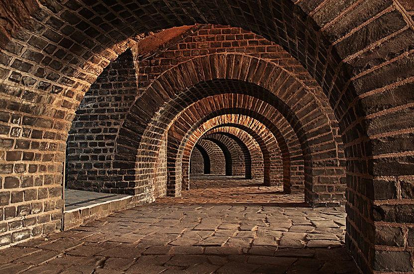 Tuğla Tünel Duvar Kağıtları | Şato Depo Tünel Duvar Kağıdı | İngiltere