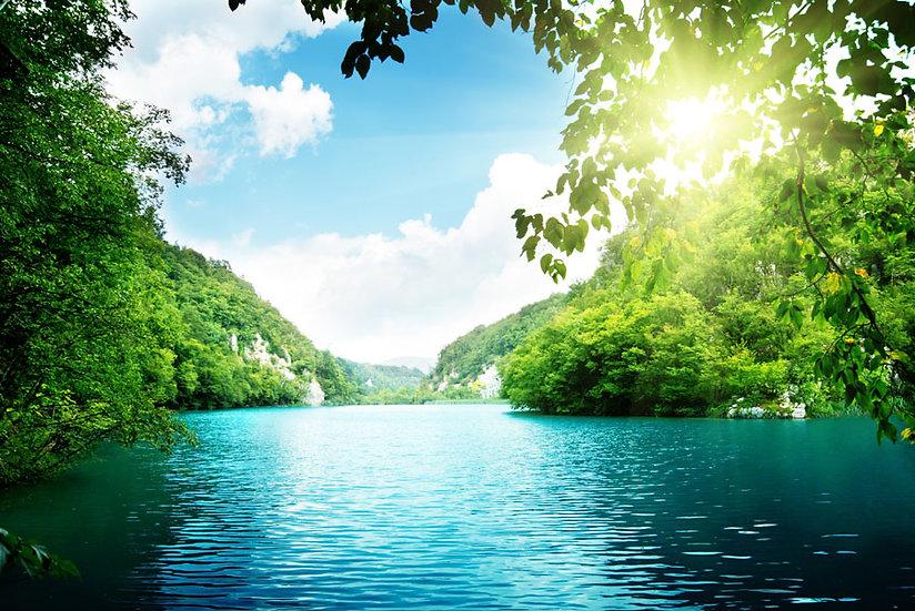 3 Boyutlu Nehre Akan Şelale Duvar Kağıdı   HD Nehir Yolu Duvar Kağıdı   Ağrı