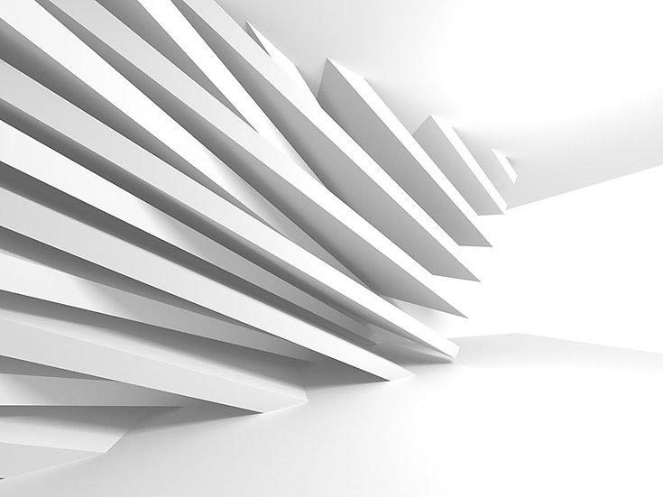 İstanbul Beyaz Hat Duvar Kağıtları | 3 Boyutlu Holding İç Dizayn Duvar Kağıtları