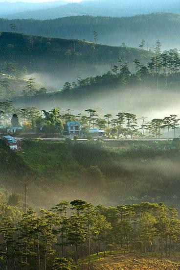 3 Boyutlu Tai Duvar Kağıtları | Sisli Dağ Atmosfer Duvar Kağıtları | Tayland