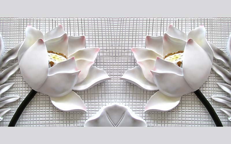 İstanbul Tasarım Duvar Kağıtları | 3D Beyaz Gül Duvar Kağıtları | İstanbul