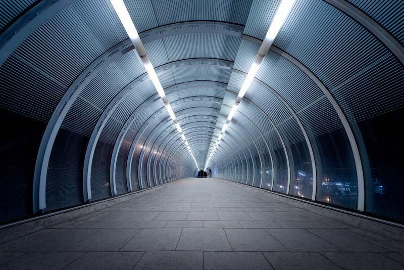 Işıklı Tünel Duvar Kağıdı Çeşitleri   3D Tren İstasyonu Duvar Kağıtlari