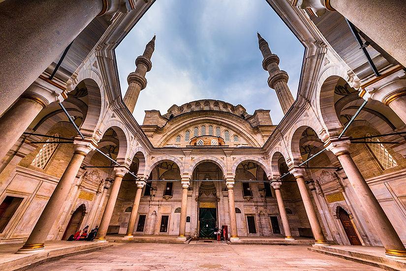 Cami Avlu Duvar Kağıtları | Dini Resimli Duvar Kağıdı | İslami Duvar Kağıtları