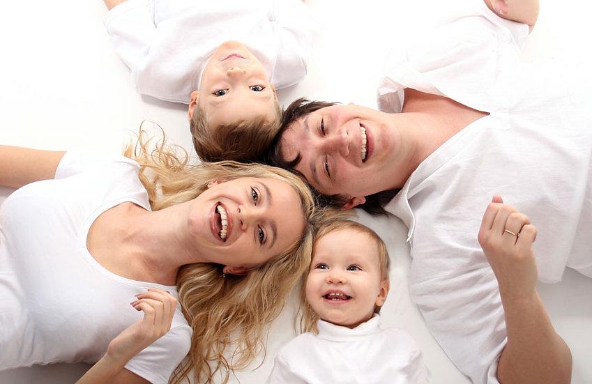 Aile Mutluluğu Duvar Kaplamaları | 3 Boyutlu Yüz İfadeleri Duvar Kağıdı