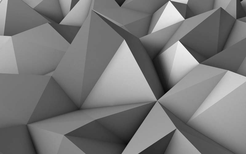 Üçgen Simetri Duvar Kağıtları | 3 Boyutlu Şekil Duvar Kağıtları | Bursa