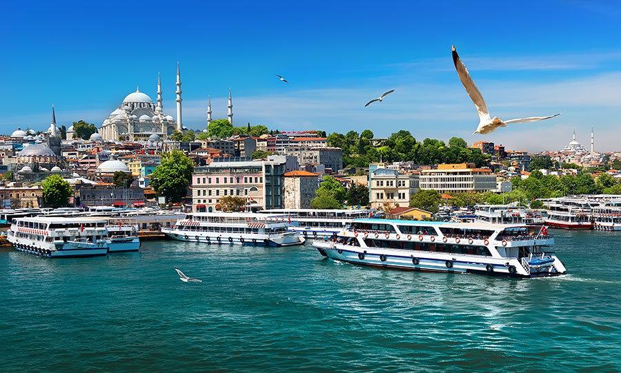 Vapur Gezisi Cami Manzara Duvar Kağıtları | 3 Boyutlu İstanbul Duvar Kağıtları