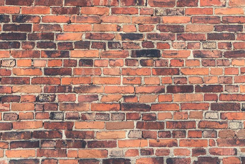 Turuncu Tuğla Modeli Duvar Kaplamaları | 3 Boyutlu Taş Tuğla Duvar Kağıtları