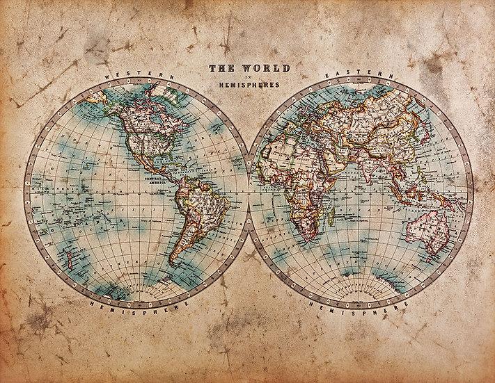 Dünya Eğitimi Duvar Kağıtları | En Uygun Eski Dünya Haritası Duvar Kağıtları