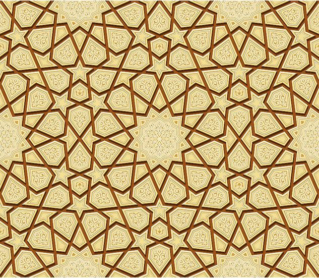 Cami İçi Hat Motif Duvar Kağıtları | Üç Boyutlu Taş Sanatı Duvar Kağıtları