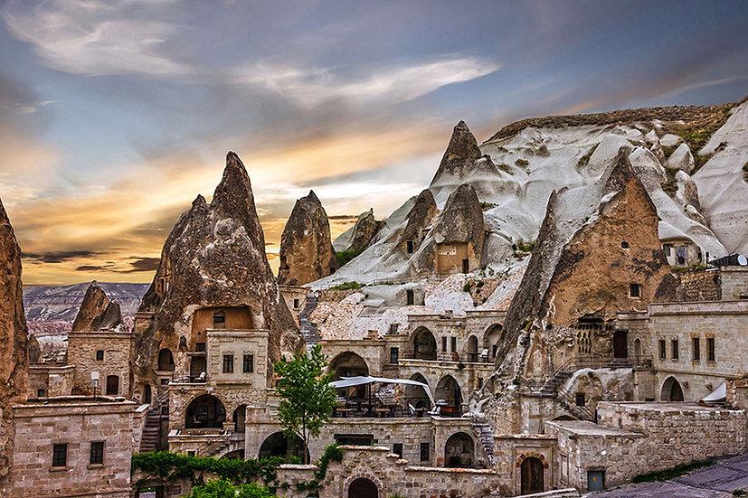 3 Boyutlu Tarihi Kasaba Antik Duvar Kağıtları | Nevşehir Duvar Kağıdı Çeşitleri