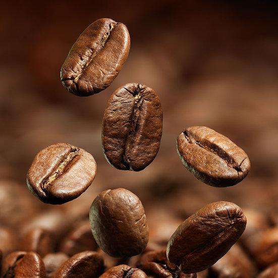 Kahve Diyarı Duvar Kağıdı | Kabartmalı Dökülen Kahve Çekirdekleri Duvar Kağıdı