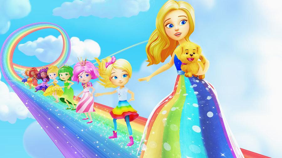 Barbie Bebekleri Duvar Kaplamaları | 3 Boyutlu Sarı Bebek Duvar Kağıtları