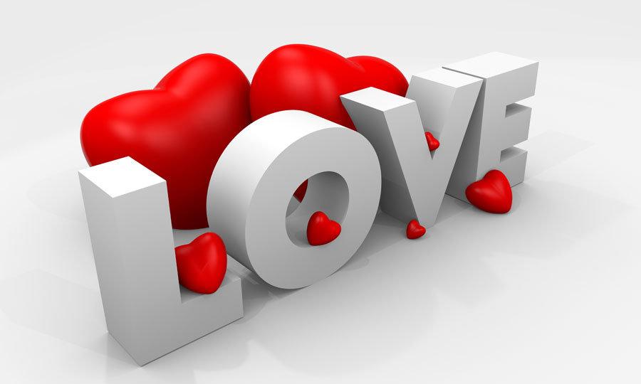 Cafeler İçin Duvar Kağıdı | Kabartmalı Love Duvar Kağıdı | Duvar34.com
