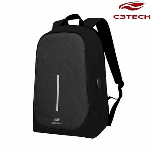 "Mochila para Notebook 15.6"" Tokyo Antifurto - C3Tech"