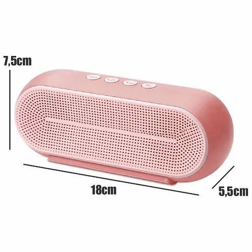Caixa de Som 10W RMS Bluetooth/Rádio FM/SD/USB/P2