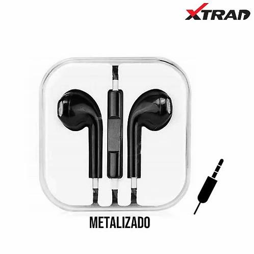 Fone de Ouvido P2 c/ Microfone Metalizado Xtrad