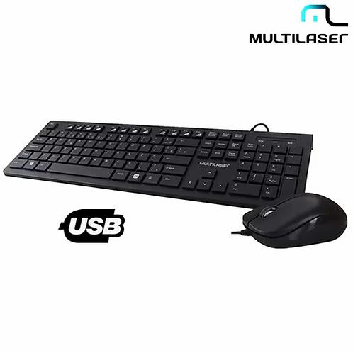 Kit Teclado Multimídia e Mouse USB - Multilaser