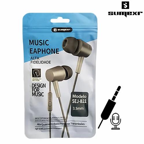 Fone de Ouvido P2 Intra Auricular c/ Microfone