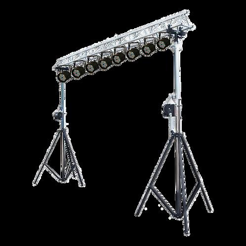 גשר תאורה עם 8 פנסים ופיקוד תאורה