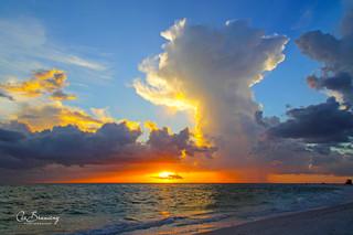 Sunset on Lido Beach - 1