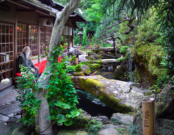 Kyoto, Japan - Old man in the Garden