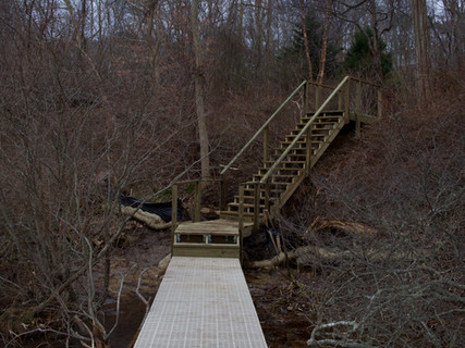 Completed set of stairs and a Helical Pier