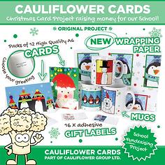 Original Christmas Project Pta Help Cauliflower Cards