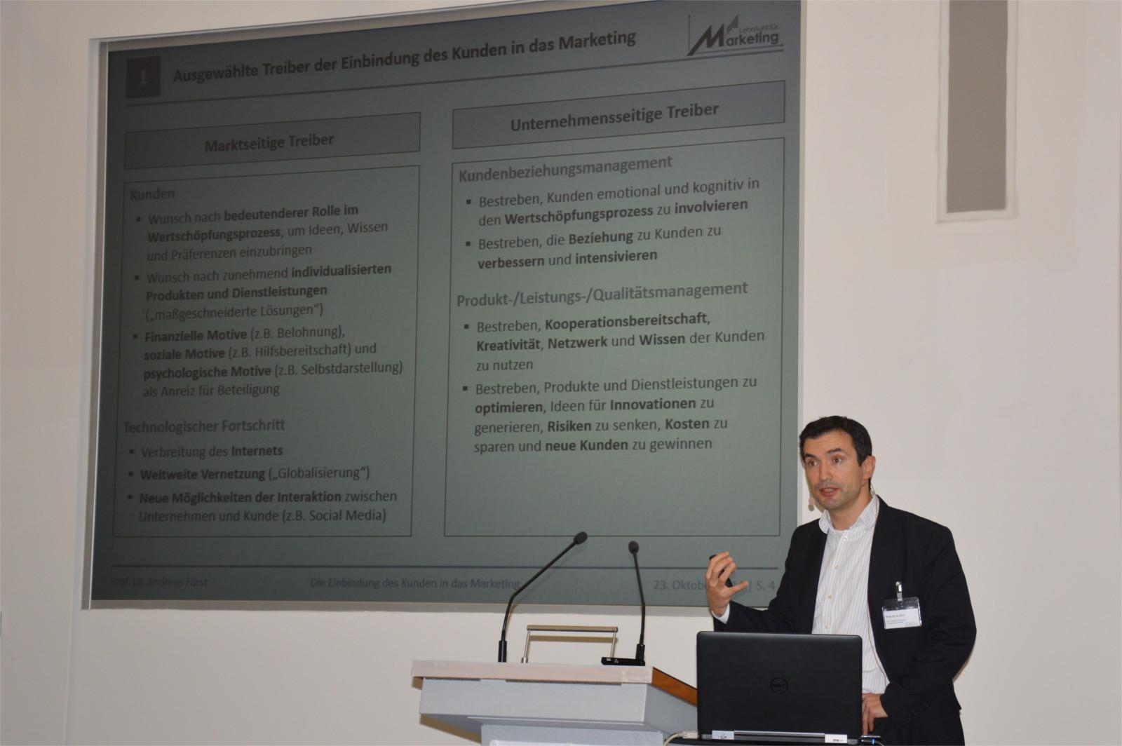 Vortrag von Prof. Dr. Andreas Fürst