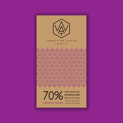 70% Dark Chocolate Crunchy Cacao 70gr
