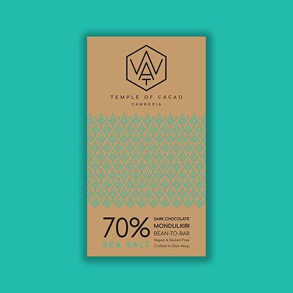 70% Dark Chocolate Sea Salt 70gr