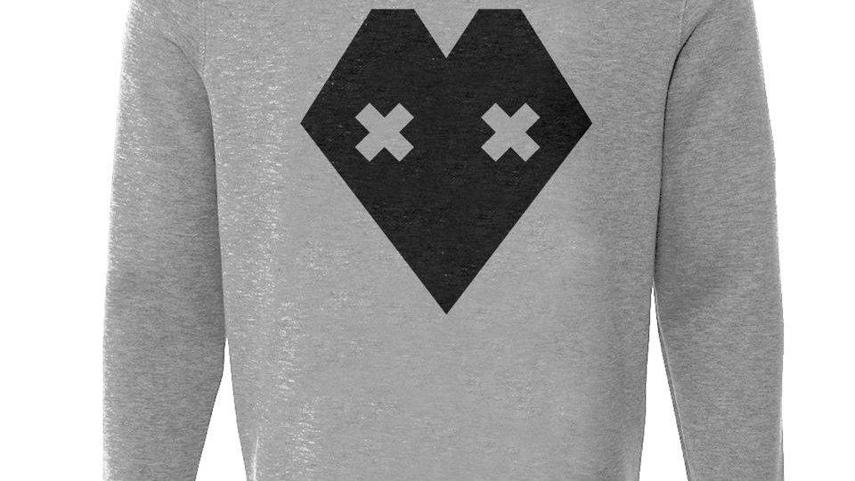 Black Heart Label Grey Jumper