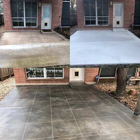 Concrete Patio Overlay and Stain