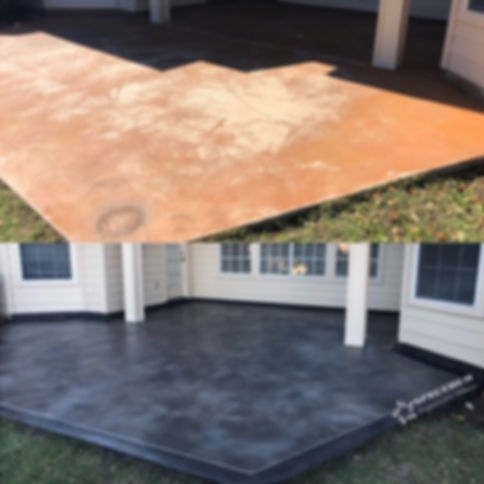 Stained Concrete Patio Renovation