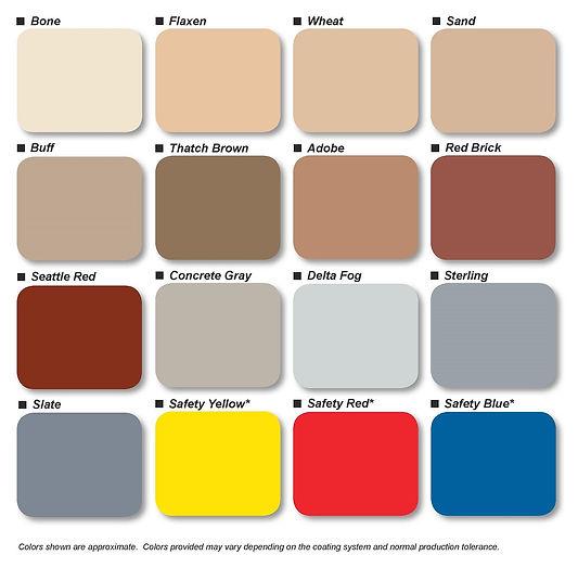 Standard Epoxy Color Chart