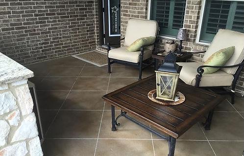 Custom Engraved Concrete Patio