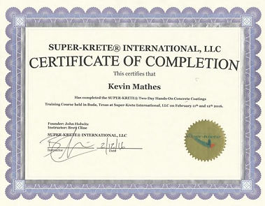 Spectrum Superior Stain certification