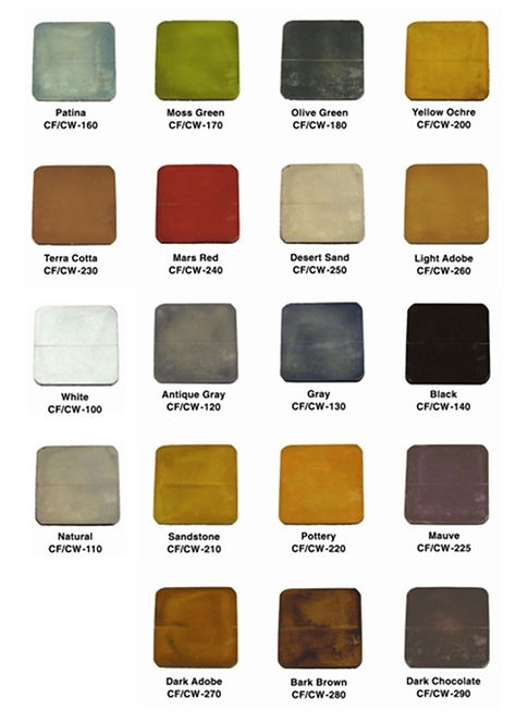 Water Stain Color Chart