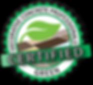 Decorative Concrete Certified Green