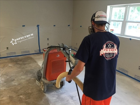 Preparing Floors for Concrete Staining and Epoxy Coatings - Step 1: Cleaning