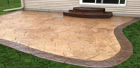 Concrete Overlay Stamping