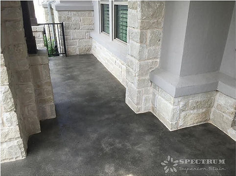 Stained Concrete Porch