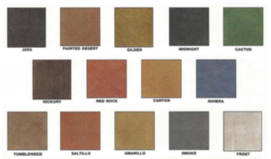 Acetone Dye Color Chart