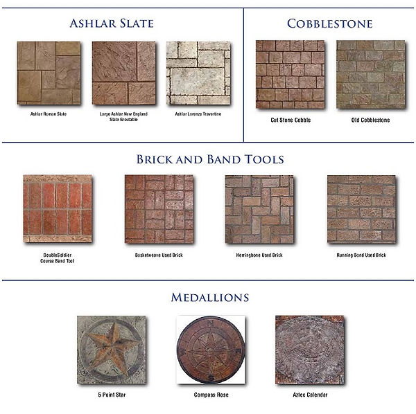 concrete stamp chart